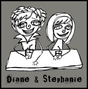Diane and Stephanie cartoon