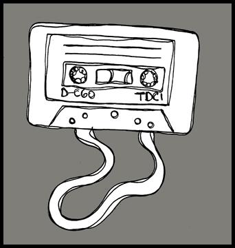 Mixed-tape cartoon