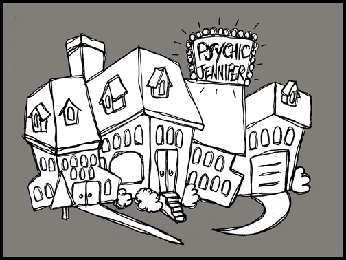 Psychic Jennifer's House cartoon