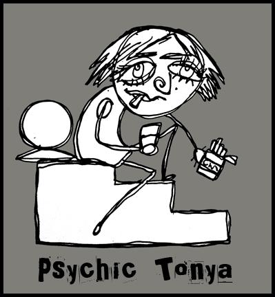Psychic Tonya cartoon