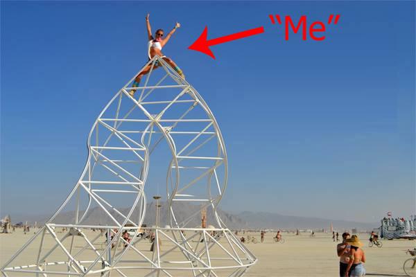 Christina climbing