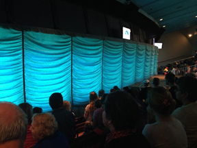 Inside the Newton Perry's Weeki Wachee Mermaid Theater.