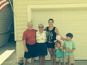 Christina, Barbara, Harold and Kids
