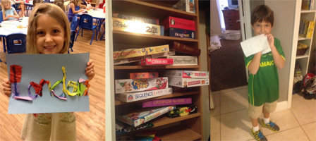 London, our board games and Hudson