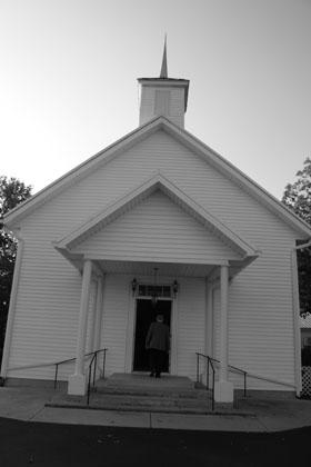 The little white church.